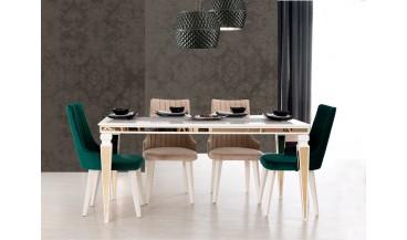 Lyon Art Deco Yemek Odası Takımı