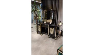 Lyon Art Deco Siyah Yatak Odası Takımı