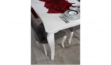 Betül Yemek Odası Takımı (Beyaz)