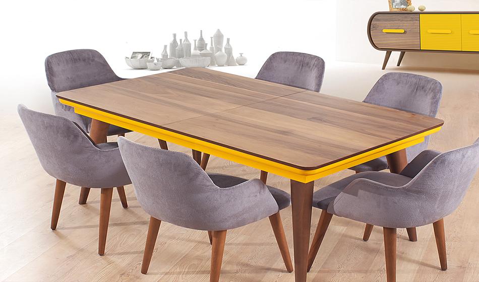 Gökçe Masa+6 Sandalye