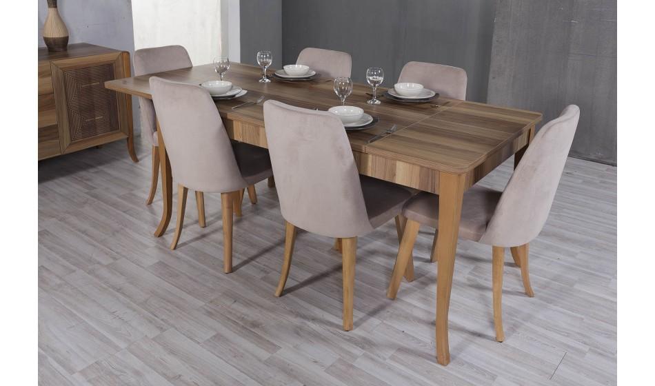 Wood Masa 6 Sandalye Inegol Mobilya