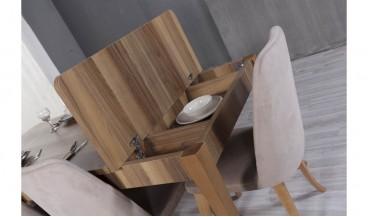 Wood Masa + 6 Sandalye