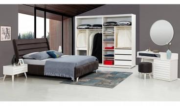 Klas Yatak Odası Takımı (Beyaz)