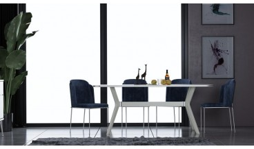 Luna Masa + 6 Sandalye