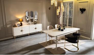 Eylü Masa + 6 Sandalye