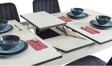 Elit 2 Beyaz Masa + 6 Sandalye