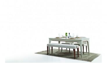 Erva Masa + 4 Sandalye + Benç