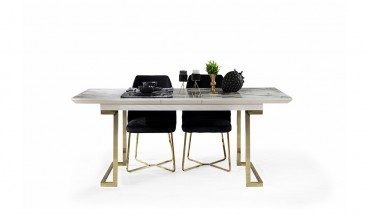 Duru Masa + 4 Sandalye (Gold)